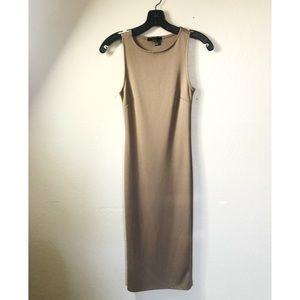 Forever 21 Taupe Midi Dress